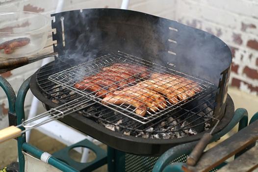 Lávaköves grill használata